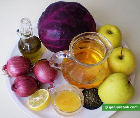 Ингредиенты для капусты с яблоками