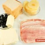 Ингредиенты для тостов по-гавайски