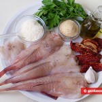 Ингредиенты для морского чёрта под сырной корочкой