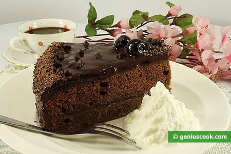 Кусочек торта Захер