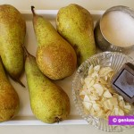 Ингредиенты для груш с шоколадным соусом