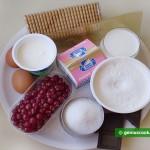 Ингредиенты для чизкейка с шоколадом