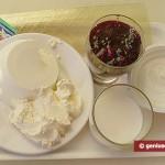 Ингредиенты для чизкейка с ягодами