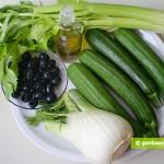 Ингредиенты для цуккини с фенхелем и сельдереем