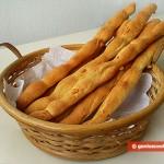Хлебные палочки Гриссини с сыром