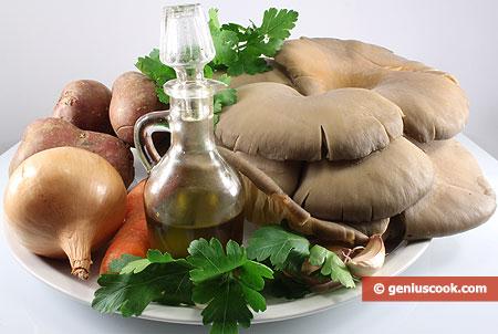 Ингредиенты для грибов с картошкой