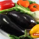 Ингредиенты для баклажанов с овощами