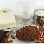 Ингредиенты для шоколадного орехового масла