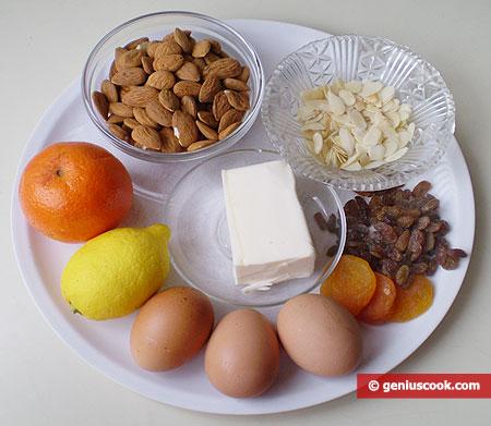 Ингредиенты для миндального торта Тим
