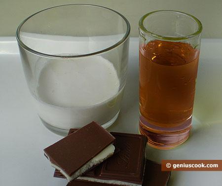 Ингредиенты для коктейля Александр