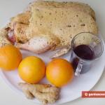 Ингредиенты для утки под чернично-апельсиновым соусом