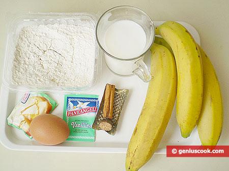 Ингредиенты для ямайских банановых блинчиков