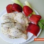 Ингредиенты для цыплёнка со сладким перцем