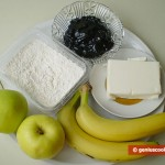 Ингредиенты для пирога с яблоками и бананами