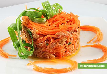 Салат с тунцом и морковью