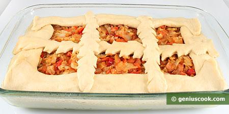 Тесто с начинкой в форме