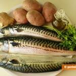 Ингредиенты для скумбрии с картошкой