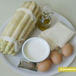 Ингредиенты для спаржи с яйцом и сыром