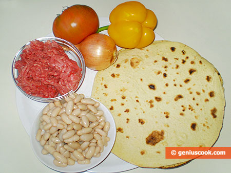 Ингредиенты для Буррито с говядиной
