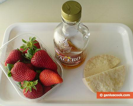 Ингредиенты для карпаччо с клубникой