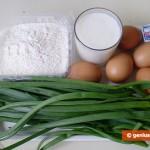Ингредиенты для печёных пирожков с яйцом и зелёным луком