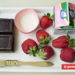 Ингредиенты для корзинок со сливками и клубникой