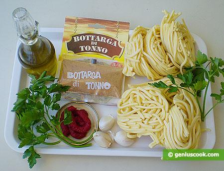 Ингредиенты для пасты с боттарга