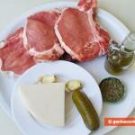 Ингредиенты для фаршированного филе с огурцами и сыром