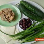 Ингредиенты для фаршированных огурцов