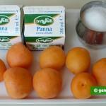 Ингредиенты для парфе с абрикосами