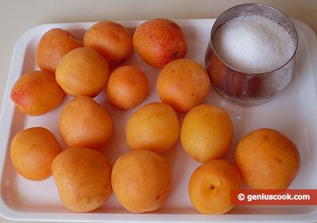 Ингредиенты для абрикосового сорбета