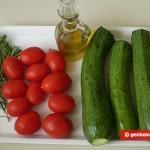Ингредиенты для жареных помидоров и цуккини