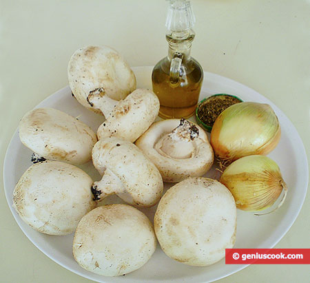 Ингредиенты для жареных шампиньонов