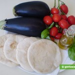 Ингредиенты для питы с овощами