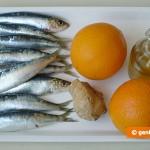 Ингредиенты для сардин в апельсиновом соусе
