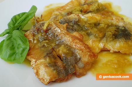 Сардины под апельсиново-имбирным соусом