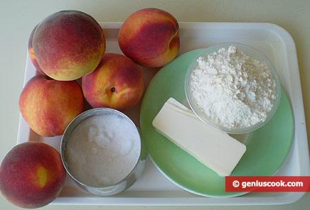 Ингредиенты для персикового крамбля
