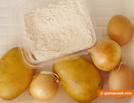 Ингредиенты для драников (латкес)