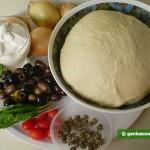 Ингредиенты для фламмкухена по-средиземноморски