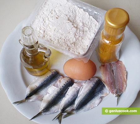 Ингредиенты для сардин индорате