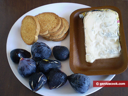 Ингредиенты для инжира с сыром