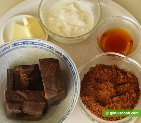 Ингредиенты для шоколадных трюфелей
