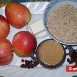 Ингредиенты для яблочного крамбля