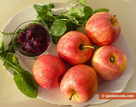 Ингредиенты для запечёных яблок