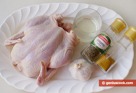 Ингредиенты для цыплёнка гриль