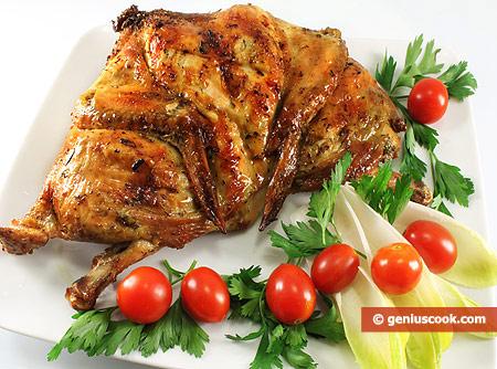 Цыплёнок карри гриль