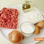 Ингредиенты для блинов с мясом