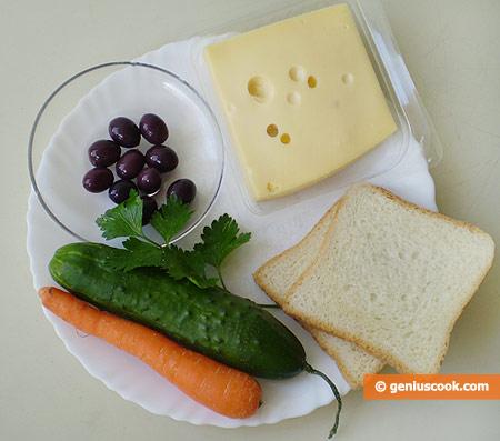 Ингредиенты для весёлых бутербродов