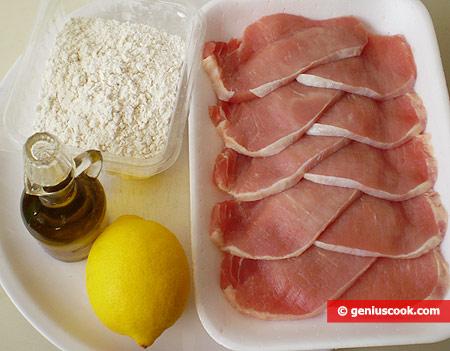 Ингредиенты для эскалопов по-итальянски