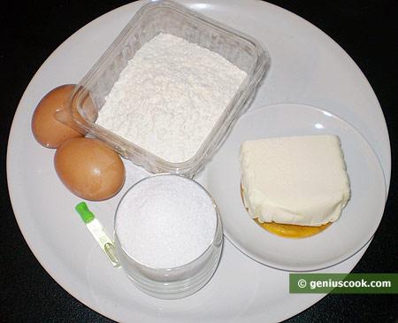 Ингредиенты для вафельных трубочек